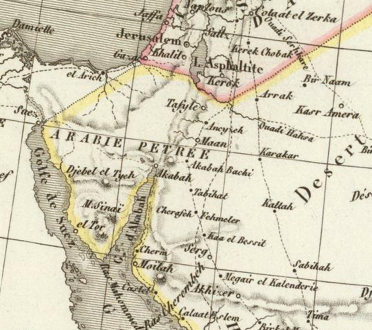 A map of Arabia from the Atlas universel de geographie ancienne et moderne which was published in 1833